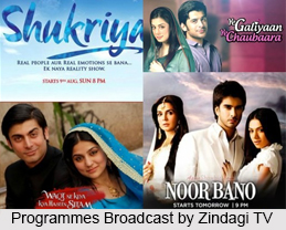 Programmes Broadcast by Zindagi TV