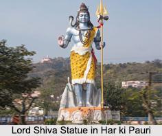 Lord Shiva Statue, Har ki Pauri