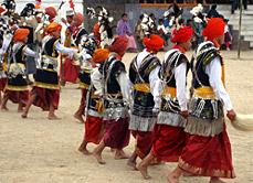 Nongkrem Gestival - Villagers Performing Annual Thanks giving dance