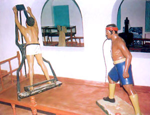 The patriots were tied on the floging stand - Manual Labour in Cellular Jail, Andaman And Nicobar Islands