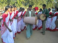 Dance of Santhal Tribe