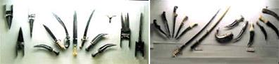 Sri Chhatrapati Shivaji Maharaj  Museum - Sword, weapons.& various equipment's in 17th & 18th century
