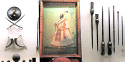 Sri Chhatrapati Shivaji Maharaj  Museum  - Shield, Sword, weapons.& Painting of Ch.Shivaji Maharaj