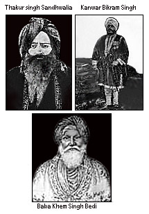 The people who helped to establish the Singh Sabha