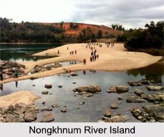 Nongkhnum River Island, Meghalaya