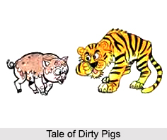 Tale of Dirty Pigs, Meghalaya Folktale