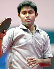 Subhajit Saha the Arjuna Awardees in Table Tennis 2007