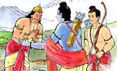 Sugriva met Shri Rama