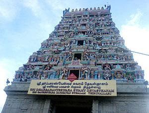 Thirunallaru temple in Nagappattinam, Tamil Nadu