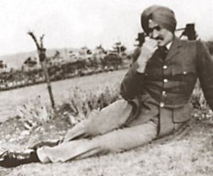 Arjan singh in the country during training at Cranwell