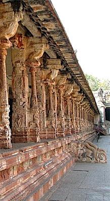 Architecture of  Inner Courtyard of Virupaksha Temple