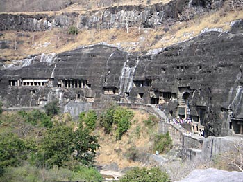 The rock-cut Buddhist viharas and chaityas of Ajanta