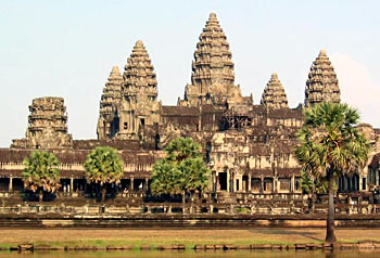 Monumental sources of Ancient Indian History -  Angkor-Vat Temple in Cambodia