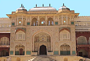 The doors of the Amber palace in Jaipur, Ivory Art , India