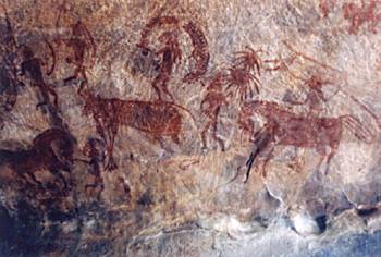 Bhimbetka, Rock Art In Mesolithic Period