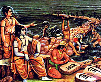 Adam's Bridge, Yuddha Kanda, Ramayana