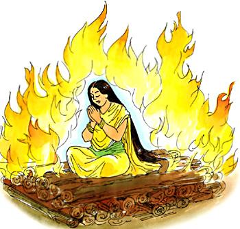 Agni pariksha of Sita
