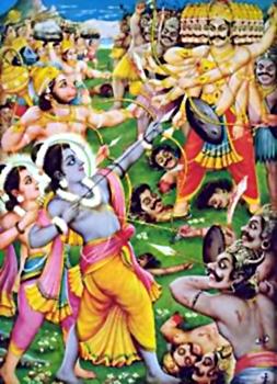 Death of Ravana, Yuddha Kanda, Ramayana