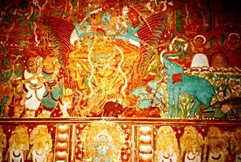 Gajendra Moksham Mural Painting in Krishnapuram Palace