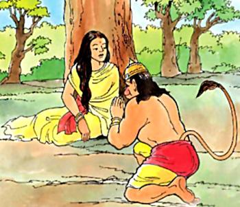 Hanuman Meets Sita