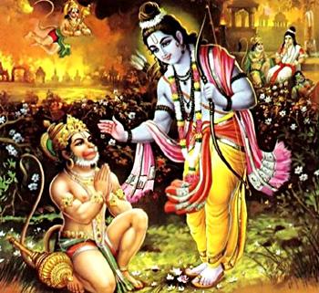Hanuman Returns to Rama from Lanka With the Message of Sita