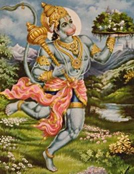 Hanuman fetches Healing Herbs