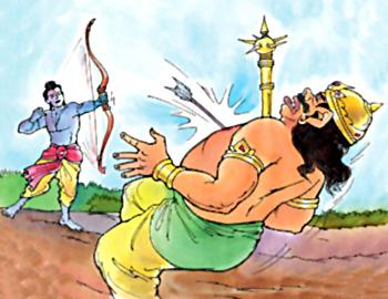 Death of Kumbhakarna, Yuddha Kanda, Ramayana
