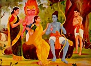 Rama Meets Sita in Lanka, Yuddha Kanda, Ramayana