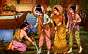 Meeting of Rama with Guha, King of Nishadha