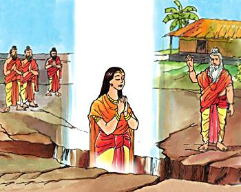 Sita taken home by Earth