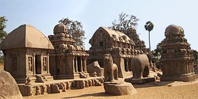 Five Rathas of Mahabalipuram, Mahabalipuram, Tamil Nadu