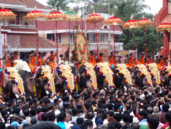 Trichur Pooram Festivals of Vaikom Shiva Temple, Vaikom Temple