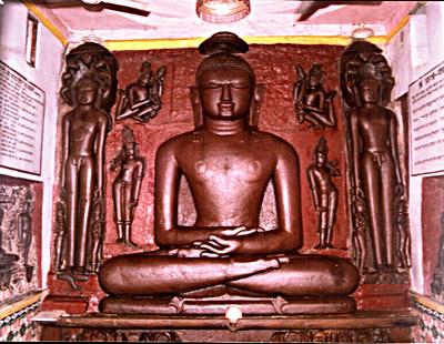 15 feet statue of  Bade Baba Bhagwan Adinath in the sitting posture at Damoh, Madhya Pradesh
