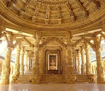 Jaina temple Mount Abu in rajasthan