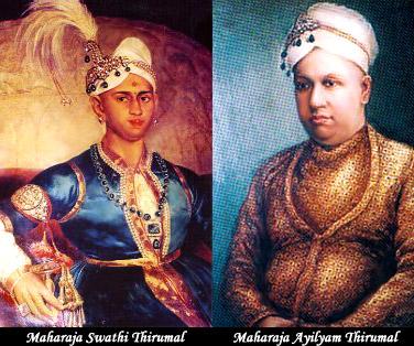 Maharaja Swathi Thirunal and Maharaja Ayilyam Thirunal - History of Thiruvananthapuram, Kerala