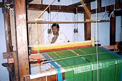 Handloom Weaving one of the occupation of Ettayapuram, Thoothukudi, Tamil Nadu