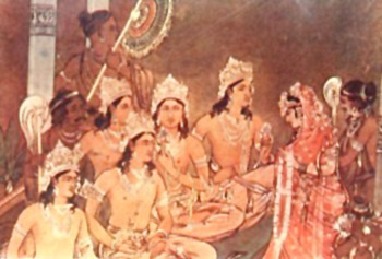 Draupadi having five husbands