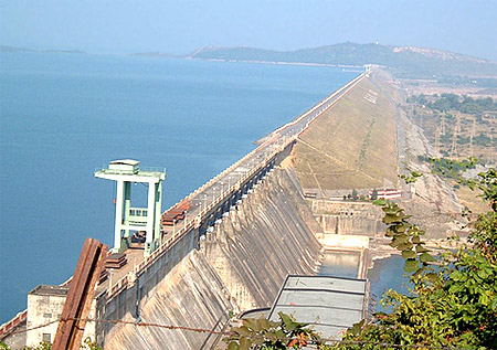 Hirakud Dam on the Mahanadi River
