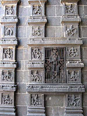 Karanas or postures of the body in dance, carved in Chidambaram Temple in South India, which are described in the Natya Shastra