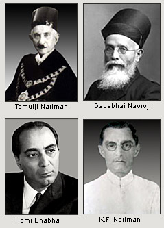 Some of the eminent Parsis from the Indian political scenario