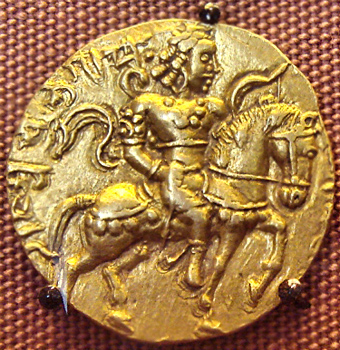 gold coins issued by Chandra Gupta I