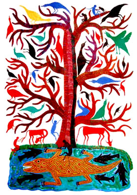 Pithora Paintings, Indian Tribal Painting