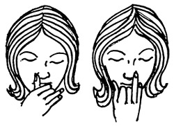 Alternate nostril breathing