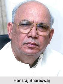 Hansraj Bharadwaj , Indian Politician