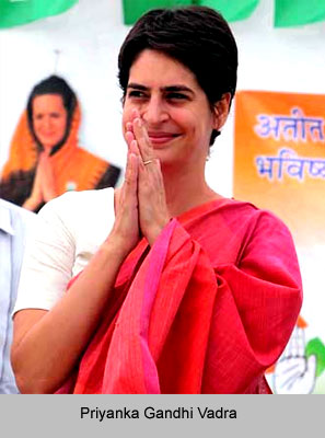 Priyanka Gandhi Vadra, Indian Politician