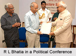 R L Bhatia, Governor of Bihar in Political Conference