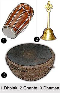 Instruments used in Chhau dance