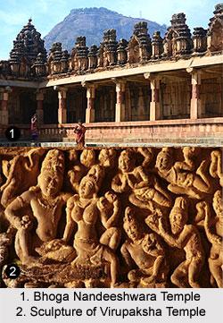 Bhoga Nandeeshwara Temple and Sculpture of Virupaksha Temple