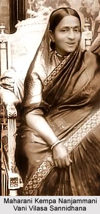 Maharani Kempa Nanjammani Vani Vilasa Sannidhana, Queen Regent of Mysore