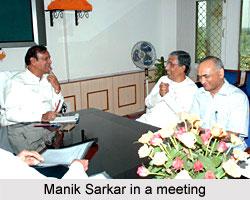 Manik Sarkar in a meeting